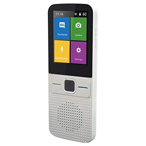 TANOU 137 Sprach üBersetzer Smart Translator Offline in Echt Zeit Smart Voice Translator Tragbar Traduttore Offline (Wei?)