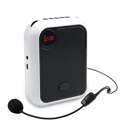 ASADVE Mini megafono Portatile Multifunzionale con Altoparlante cablato per Guida turistica per Insegnanti-Bianca
