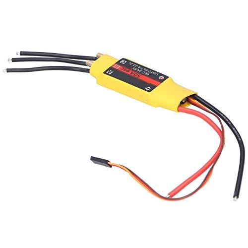 Dilwe RC Brushless ESC, 2-Way Brushless ESC 50A Linear BEC Modelo Controlador de Velocidad electrónico Accesorio de Repuesto para Barco RC
