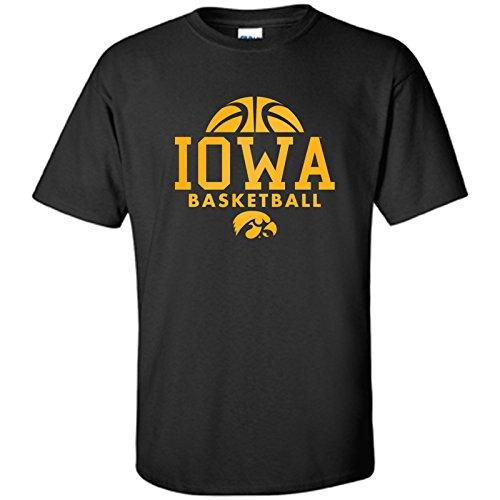Iowa Hawkeyes Basketball Hype Mens T-Shirt - Large - Black