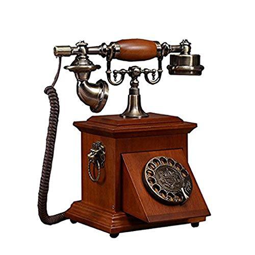 MHTCJ Feste Digitale Vintage Telephone Klassische europäische Retro Festnetztelefon mit Schnur for Home Hotel-Büro-Dekor-Telefon-Retro