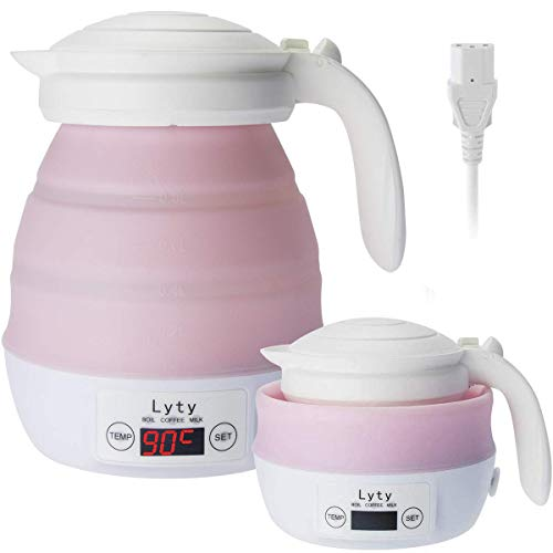 Dual Voltage Travel Electric Kettle Small - Mini 220v/110v Collapsible Portable [Various Temp Control] Travel Water...