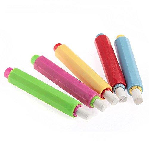 StillCool Chalk Holders for Teachers, Chalk Holder Blackboard Adjustable Chalk Clip Set, Come with 5 White Chalks