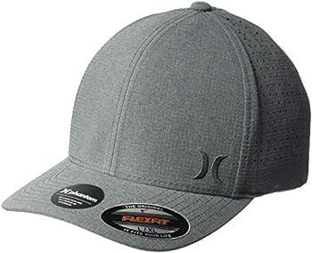 Hurley Men s Phantom Ripstop Curved Bill Baseball Cap Black Heather/Black L-XL
