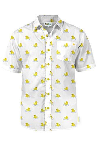 Men's White Dapper Ducky Hawaiian S…
