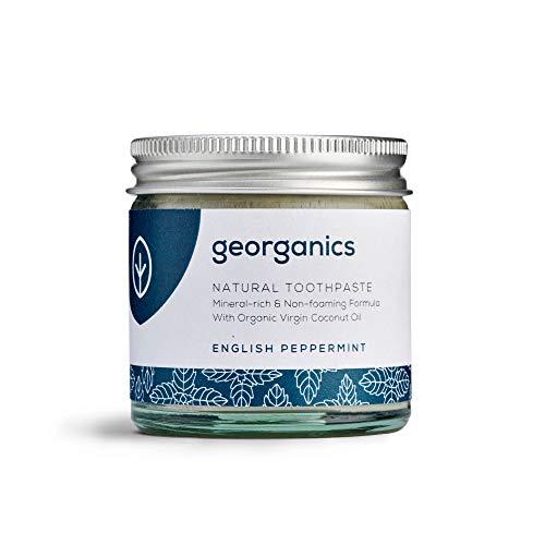 Georganics natürlich biologische Kokosölzahnpasta- Englischer Pfefferminz 60 ml/Remineralizing Natural Organic Coconut Oil Toothpaste - English Peppermint 60ml
