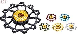 KCNC 2pcs Jockey Wheel Pulley Ultra Light 12T Bike Rear Derailleur - red Black Blue Silver Green Gold