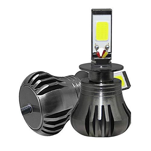 Kit ampoule de phare à DEL, 80W 9600LM H11 H9 H8 880 881 COB Matériau aluminium aviation aviation, lumière bicolore jaune + feu antibrouillard blanc, 2PCS,H11/H8/H9