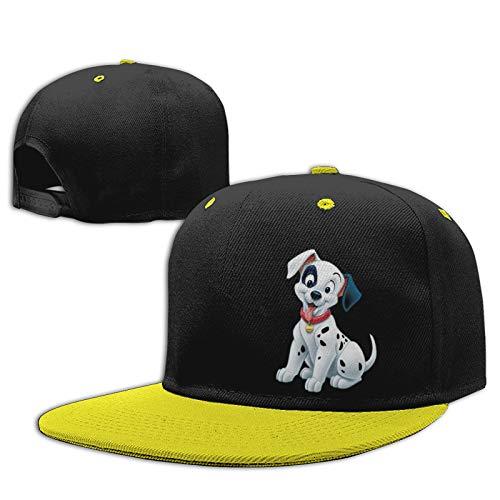 Gorra de béisbol ajustable para niños y niñas de 101 dálmatas, para niños y niñas, color amarillo