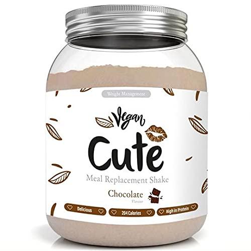 Cute Nutrition Shake Vegano al Cioccolato Sostitutivi del Pasto per la Perdita e Controllo di Peso Bevanda Dietetica Dimagranti per Donne 565g