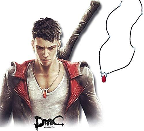 FUROO Devil May Cry, Dante Edelstein Anhänger Halskette, Cartoon Anime Peripher Halskette, Sammler Geschenk,A