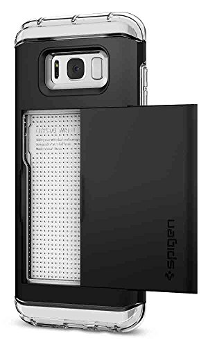Capa para Galaxy S8 Plus Crystal Wallet, Spigen, Capa Anti-Impacto, Preto