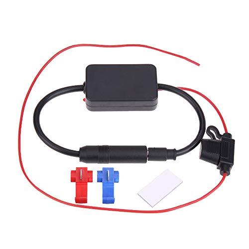 Semoic Coche Auto EstéReo FM y Am Radio Antena Se?Al Amplificador Amplificador Amplificador de Radio ElectróNica del AutomóVil AutomóViles Audio FM 88-108MHz