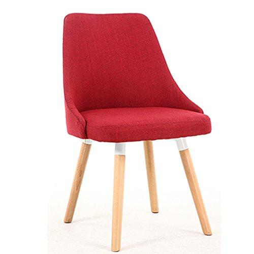 Chaises Chaises de salle à manger européennes Chaises en bois massif d'ordinateur Chaises de salon simples modernes à la maison Chaises en tissu Chaises de café Chaises de mode de salle à manger