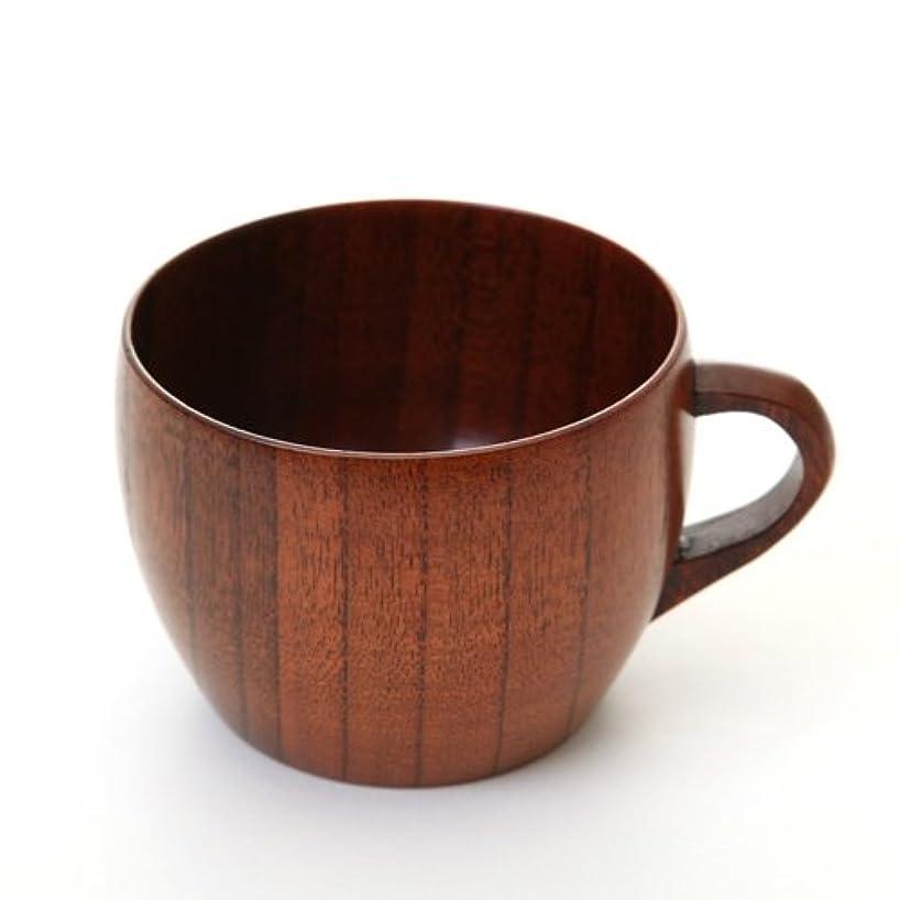 関係コンサート滴下天然木製 大和型コーヒーカップ 漆塗り