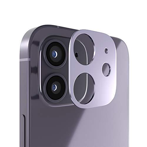innoGadgets Kameraschutz kompatibel mit iPhone 12 | Passgenauer Kamera Schutz gegen Stöße und Kratzer | staubfrei installieren mit Reinigungs-Set | Aluminiumrahmen in Schwarz
