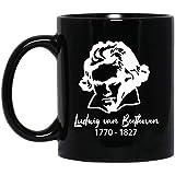 Queen54ferna Beethoven - Tazza per insegnanti di musica classica, idea regalo per insegnanti musicali, regalo per amanti della musica, 325 ml
