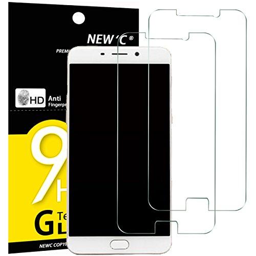 NEW'C 2 Stück, Schutzfolie Panzerglas für Oppo R9, F1 Plus, Frei von Kratzern, 9H Festigkeit, HD Bildschirmschutzfolie, 0.33mm Ultra-klar, Ultrawiderstandsfähig