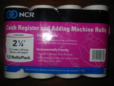 Caja registradora y adición de rollos de máquina por NCR