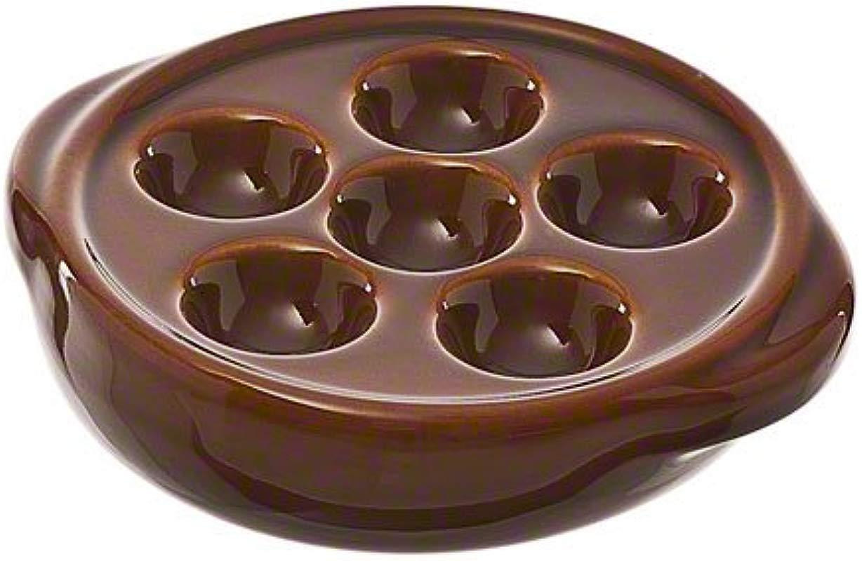 Browne 744046 6 Hole Escargot Plate