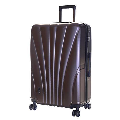 Karabar Extra Large Hard Shell Luggage Suitcase Bag XL 76 cm 4.5 kg 100 litres 4 Spinner Wheels TSA Number Lock, Seashell Brown