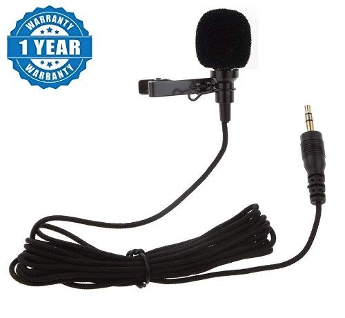 Renyke CKV_1 Collar Mic for Smartphones Recording | Video Conference | Studio | Interview | YouTube | Voice Dictation | 3.5mm Lapel Mic for Pc, Laptop, Android & iOS, Action & DSLR Camera
