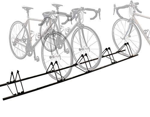 自転車用ディスプレイスタンド 5台 バイク駐輪 サイクル スタンド屋外 室内 車輪幅6cm以下対応 クロスバイク ラック 自立 横置き 折りたたみ収納可 組立簡単 日本語説明書 ロードバイク バイク マウンテンバイク ミニベロ対応