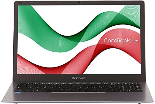 Ordenador portátil Microtech CoreBook Lite, de 15,6 pulgadas, pantalla FHD, Intel UHD Graphics 600, Intel Celeron Serie N4020, RAM 8 GB DDR4, 256 GB SSD, Windows 10 Home, gris sideral, garantía Italia