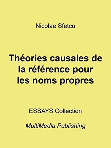 Théories causales de la référence pour les noms propres (French Edition)