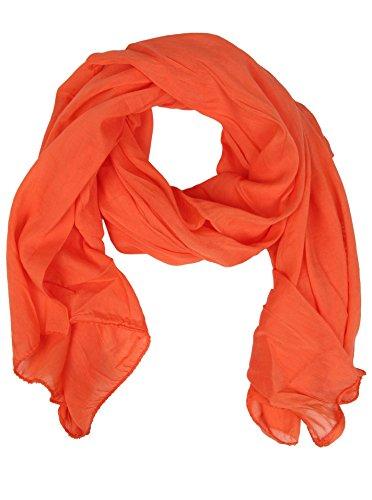 Zwillingsherz Seiden-Tuch für Damen Mädchen Uni Elegantes Accessoire/Baumwolle/Seiden-Schal/Halstuch/Schulter-Tuch oder Umschlagstuch einsetzbar - ora