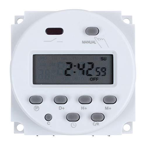 Adanse - Temporizador programable, 12 V, pantalla LCD, 16 A