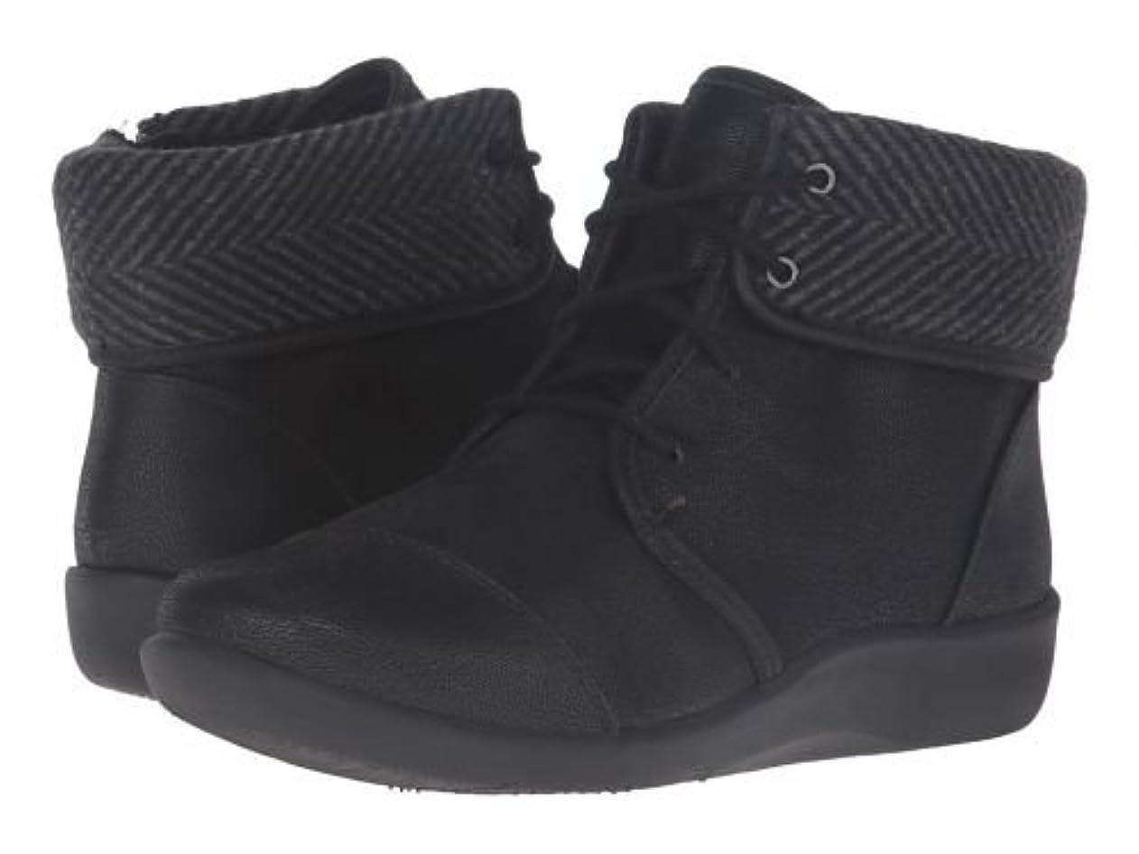 牛肉苦しむ喉が渇いたClarks(クラークス) レディース 女性用 シューズ 靴 ブーツ レースアップブーツ Sillian Frey - Black Synthetic Nubuck [並行輸入品]