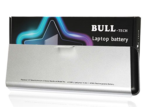 A1280 Battery Replacement New Laptop Battery for Apple A1280 A1278 (2008 Version) MacBook 13-Inch Series, Compabiel for MB771G/A MB467LL/A MB466LL/A [Li-Polymer 6-Cell 45Wh] Apple Aluminum Rechargeable Battery