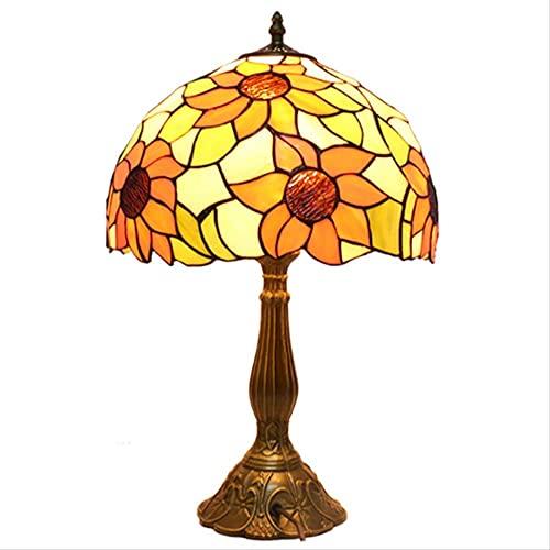 Lámpara De Mesa Retro Lámpara De Mesa De Estilo Tiffany, Lámpara De Noche De La Cama De La Cama De La Cama del Dormitorio Bar De Campo De La Barra De Campo Estudio Tiffany Table Lamp