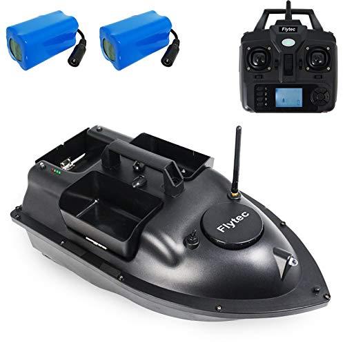 GoolRC Flytec V010 Barco de Cebo para Peces 2 kg Tanques de Carga GPS Barco de Pesca Barco de Cebo de Pesca RC 500 m Control Remoto 3 vías Cebo Barco de Pesca de Retorno Inteligente (2 Batería