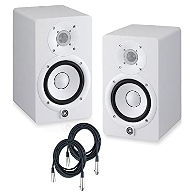 Yamaha HS5 Powered Studio Monitors Pair WHITE w/XLR Cables - Bundle from YAMAHA