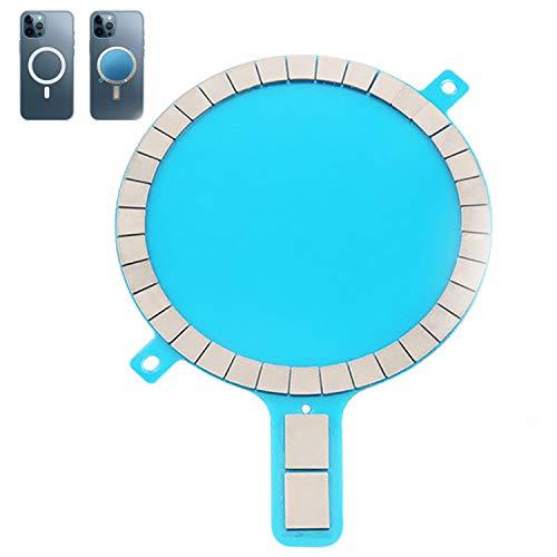 Hülle Magnet Aufkleber MJNAUY Stark Magnetisch Drahtloses Laden Magnet Mag Safe Sticker Magnet Kreis für iPhone 12 Pro Max 12 Mini 11 Xs Xr 8 Handyhülle (1 Stück)