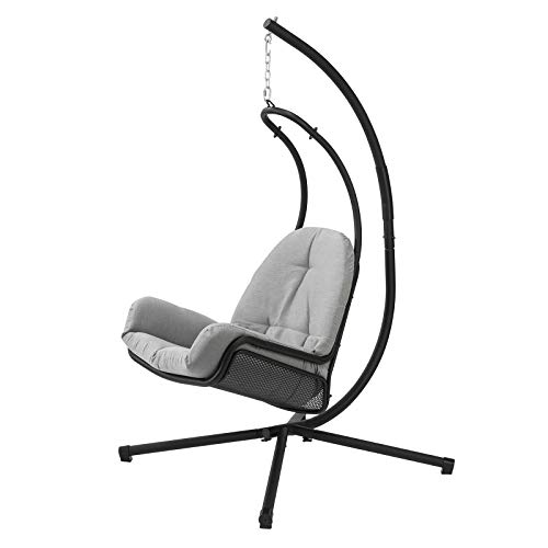 SoBuy OGS52-HG, Swing Chair Hanging Chair Hammock with Grey Cushion