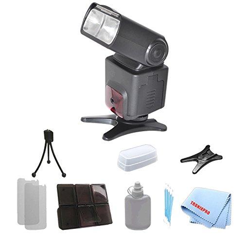 Affordable Professional Digital DSLR Flash for Canon 20D, 30D, 40D, 70D, 5D, 5DII, 5D Mark II, 5DIII, 5D Mark III, 6D, 1D, 50D, 60D, 7D and More Camera Models + Complete Starter Kit