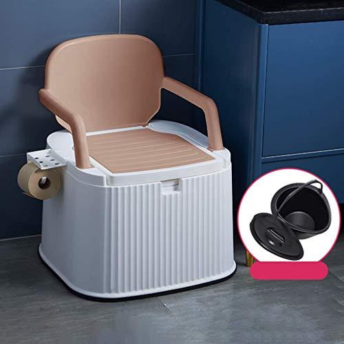 Pratico Comodo WC da Campeggio WC da Campeggio Leggero e Portatile con Porta Carta igienica per Picnic in Campeggio e roulotte in Piscina (Colore: Cuscino Plus, Dimensioni: 2) Facile da Usare