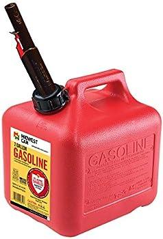 Quick-Flow Spout Midwest Auto Shut Off Gasoline Can 2 Gallon