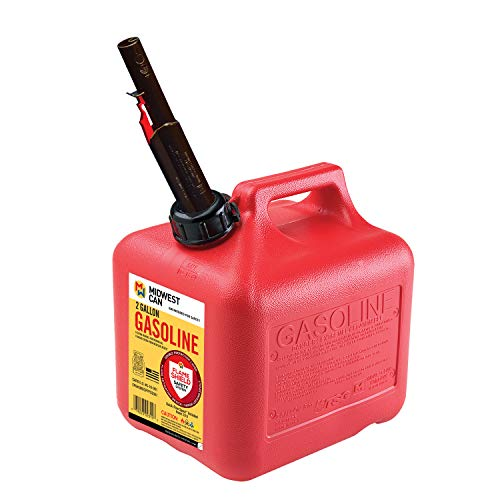 Quick-Flow Spout Midwest Can 2310 Auto Shut Off Gasoline Can - 2 Gallon