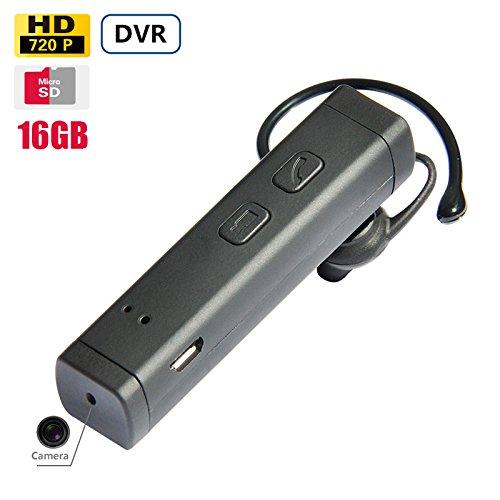 Mirilla con cámara oculta con oculta cámara WIFI FHD DVR Funcional Mini–Bluetooth–Headset Espionaje Oculta–sin cámara 16GB Memoria incluido, batería de larga–laufzeit