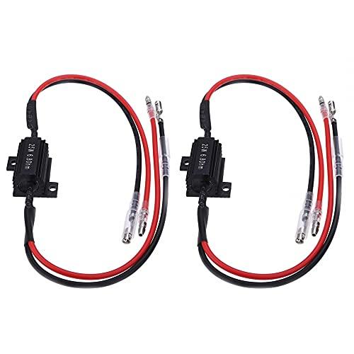 MiOYOOW 2 unidades de resistencia de carga LED, 25 W 6,8 ohmios, adaptador para resistencia indicador de intermitente para moto decodificador para indicadores de dirección