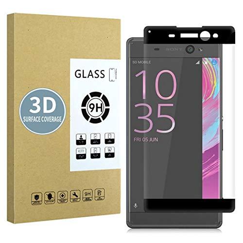 E-Hamii Protector de Pantalla Compatible con Sony Xperia XA Ultra[Negro],[Alta definición][Anti arañazos],Cristal...