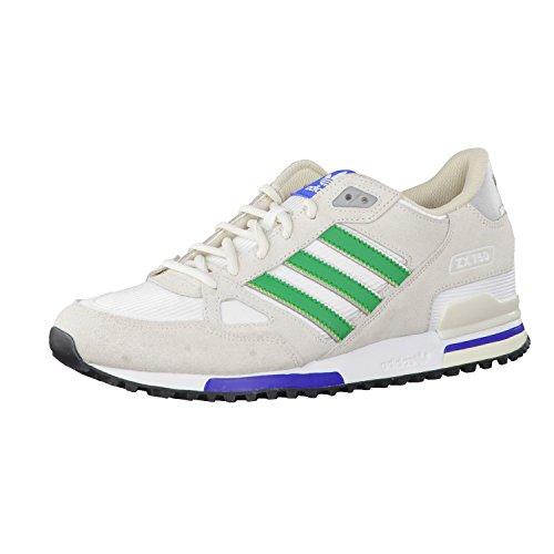 adidas Zx 750, Zapatillas Hombre, Multicolor (White / Verde / Beige), 38 2/3 EU (5.5 UK)