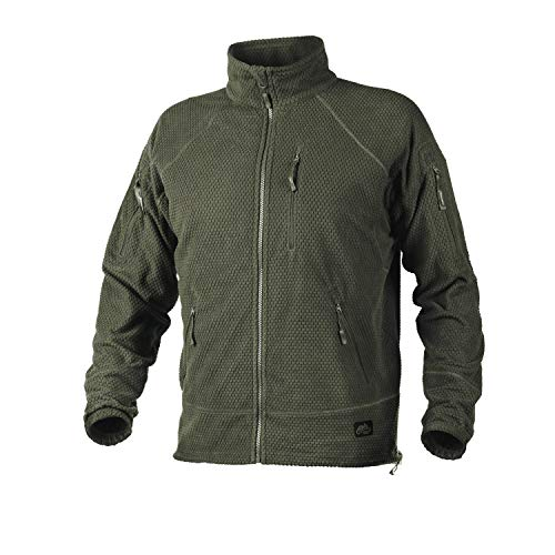 Helikon-Tex Boys Alpha Tactical-Grid Fleece-Jacke Green, Olive GRÜN, M/Regular