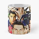 Ronaldo Cr7 Real Portugal Manchester Football Cristiano Madrid Best 11 Ounce Ceramic Coffee Mug