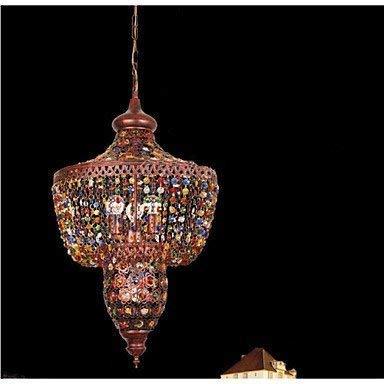 Moderne kroonluchters plafondlampen Hanger Oosterse mediterrane kleur Led Crystal Light Bar Zwart Licht in Zuidoost-Azië Restaurant 3C ce Fcc Rohs voor Woonkamer Slaapkamer