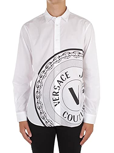 Versace Jeans Couture 71GAL2R4 CN002 Camicie Casual Uomo Bianco 50